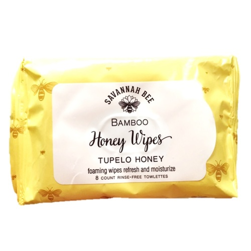 Savannah Bee Honey Face and Body Wipes 40 BUNDLE (5 x 8 wipes)