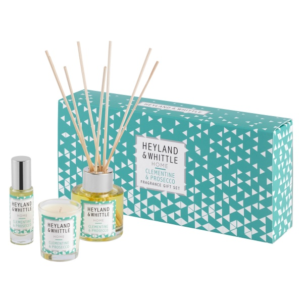 Heyland & Whittle Home Clementine Prosecco Fragrance Gift Set