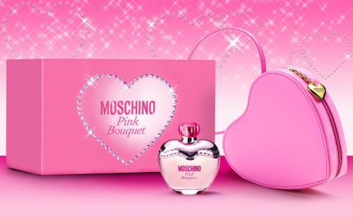 Moschino Pink Bouquet Eau De Toilette 3.4oz (100ml) Gift Set