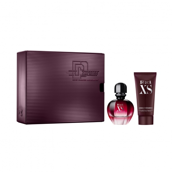 Paco Rabanne Black XS for Her 50ml EDP & Body Lotion 75ml