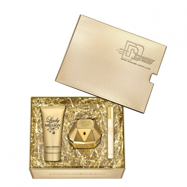 Paco Rabanne Lady Million EDP 50ml, Body Lotion 75ml & Mini