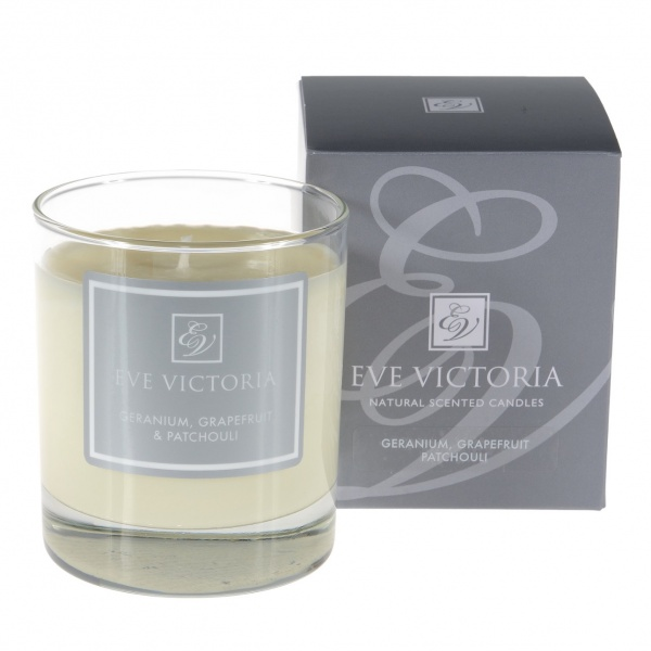 Eve Victoria Geranium, Grapefruit & Patchouli Small Candle