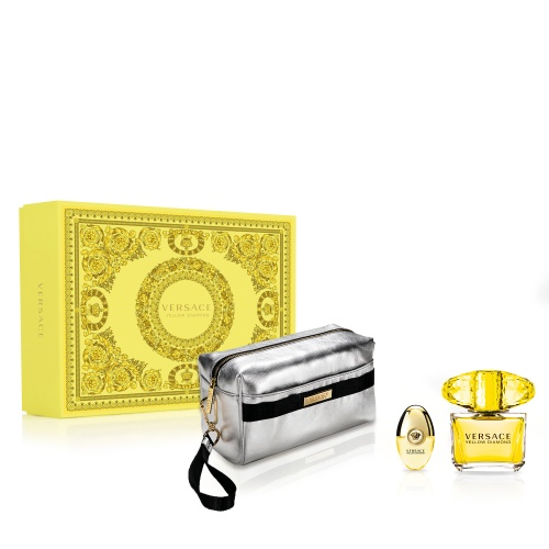 Versace Yellow Diamond EDT 90ml Gift Set 2020 (with silver bag)