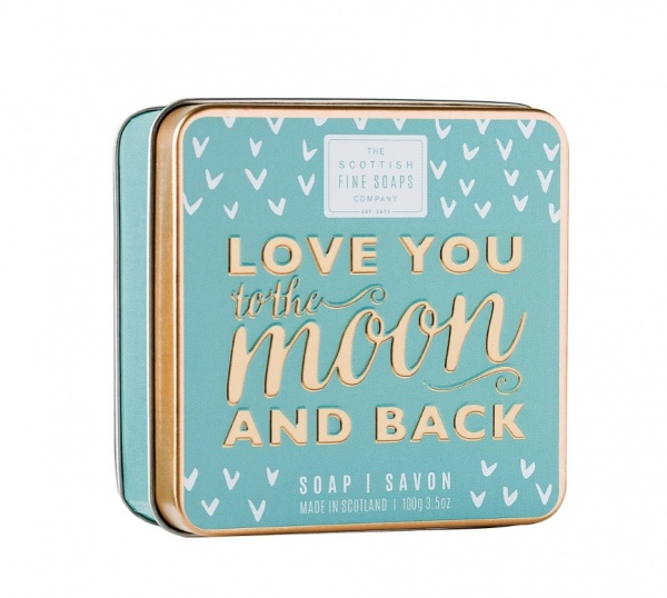 Scottish Fine Soaps 'Love You to the Moon and Back' Soap Tin 100g