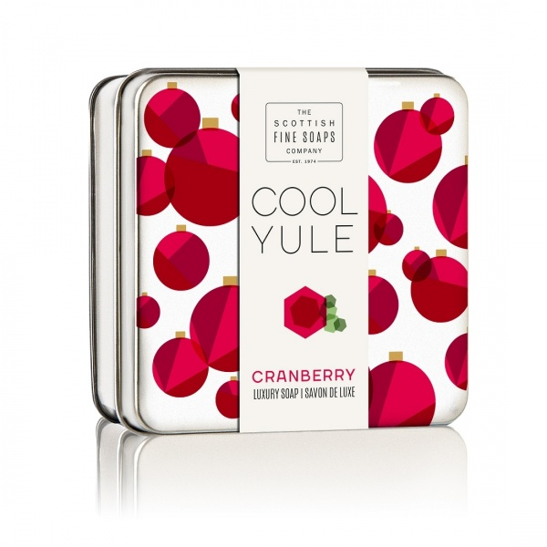 Scottish Fine Soaps Cranberry Soap Tin 100g