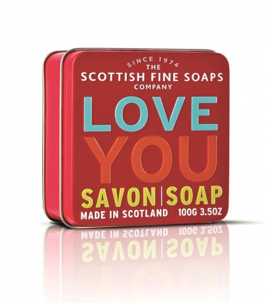 Scottish Fine Soaps 'Love You' Soap Tin 100g