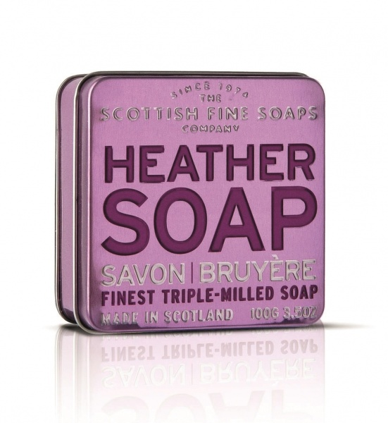 Scottish Fine Soaps Heather Soap Tin 100g
