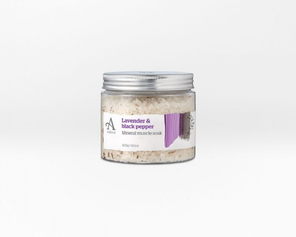 Arran Formulas Lavender and Black Pepper Mineral Muscle Soak 400g