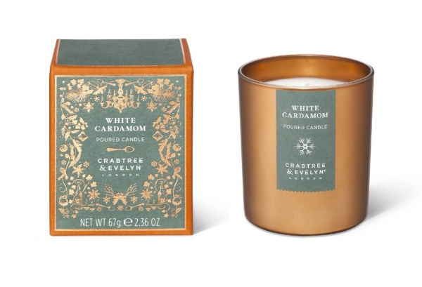 Crabtree & Evelyn White Cardamom Mini Candle 70g