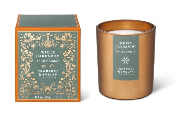 Crabtree & Evelyn White Cardamom Large Candle 200g