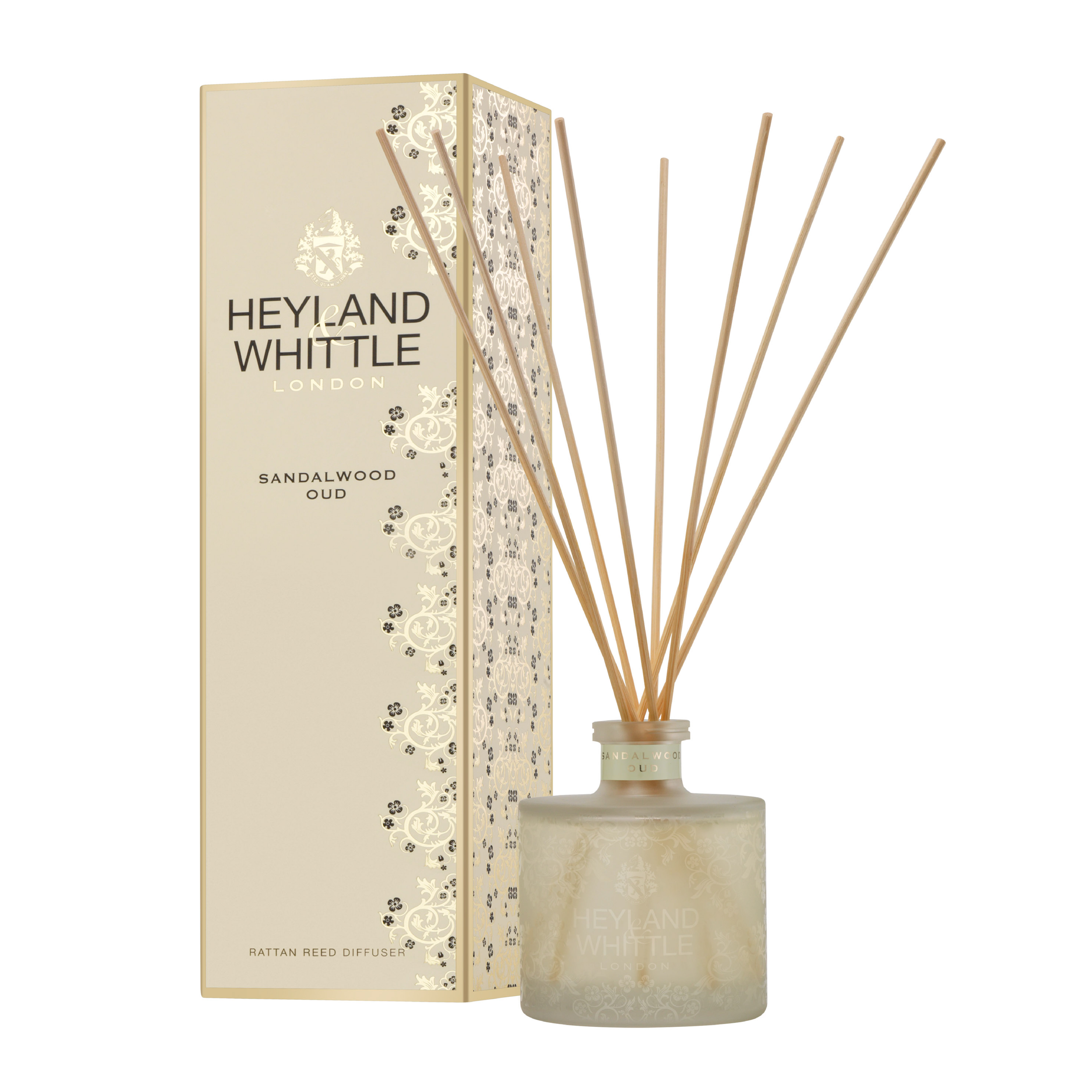 Heyland & Whittle Gold Classic Sandalwood Oud Reed Diffuser 6.7oz (200ml)