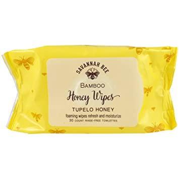 Savannah Bee Honey Face and Body Wipes 90 BUNDLE (3 x 30 wipes)
