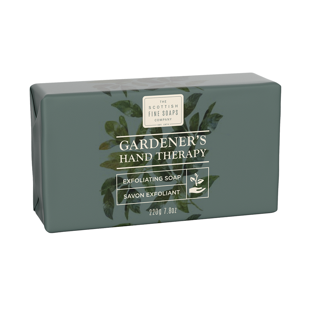 Scottish Fine Soaps Gardener's Hand Therapy Exfoliating Soap 220g Wrapped