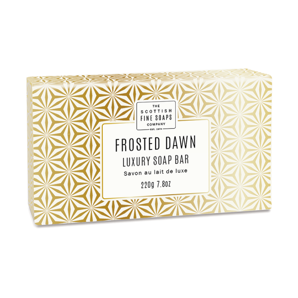 Scottish Fine Soap Frosted Dawn Luxury Soap Bar 220g Wrapped
