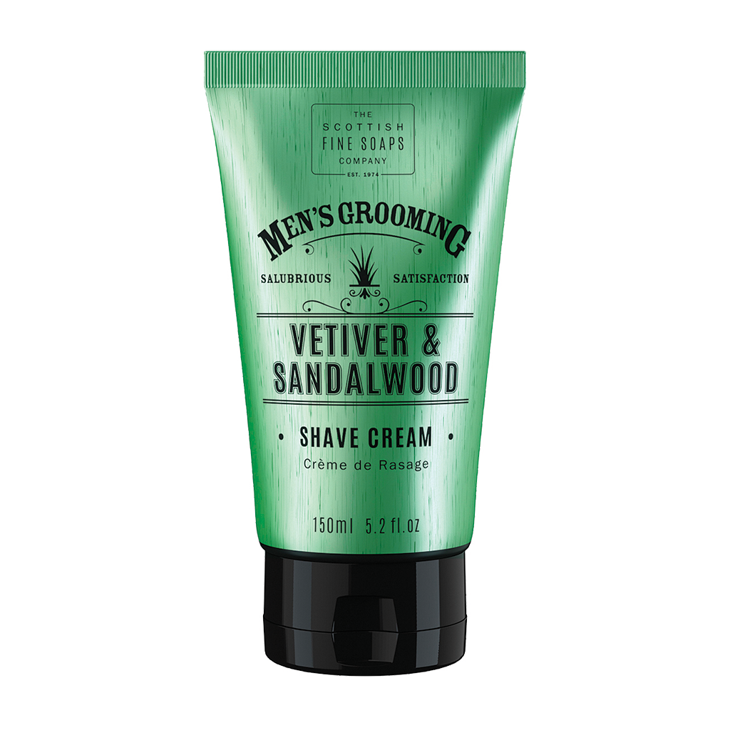 Scottish Fine Soaps Vetiver & Sandalwood Shave Cream 5.0oz  (150ml)