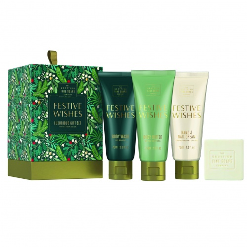 Scottish Fine Soaps 2020 Festive Wishes Luxurious Gift Set