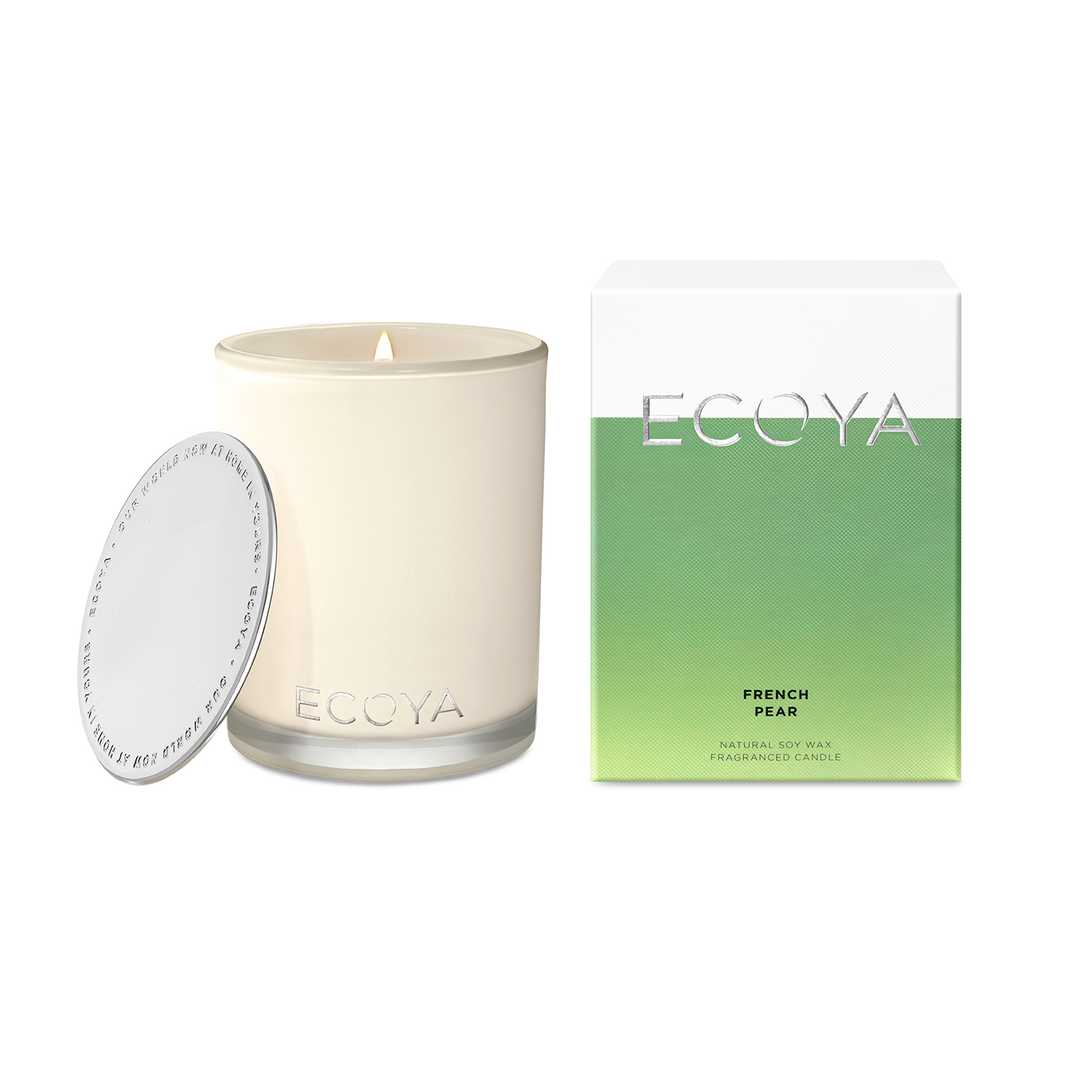 Ecoya Madison Jar French Pear Candle 400g