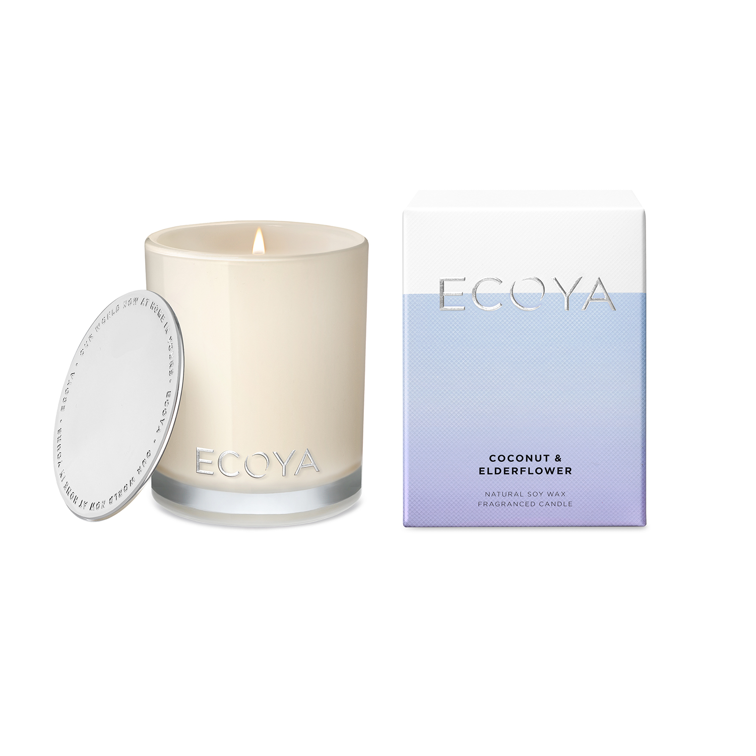 Ecoya Madison Jar Coconut & Elderflower Candle 400g