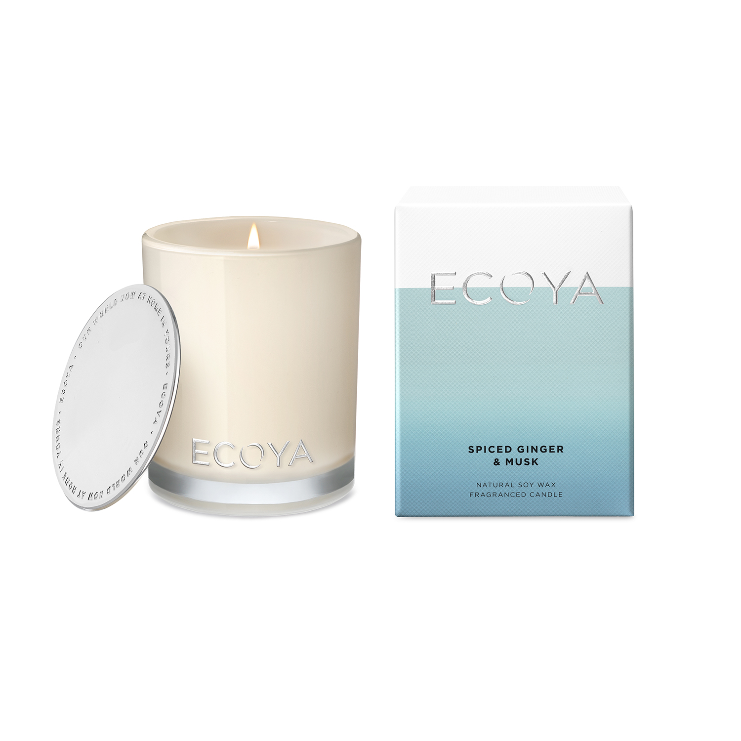 Ecoya Spiced Ginger and Musk Mini Madison Jar Candle 80g