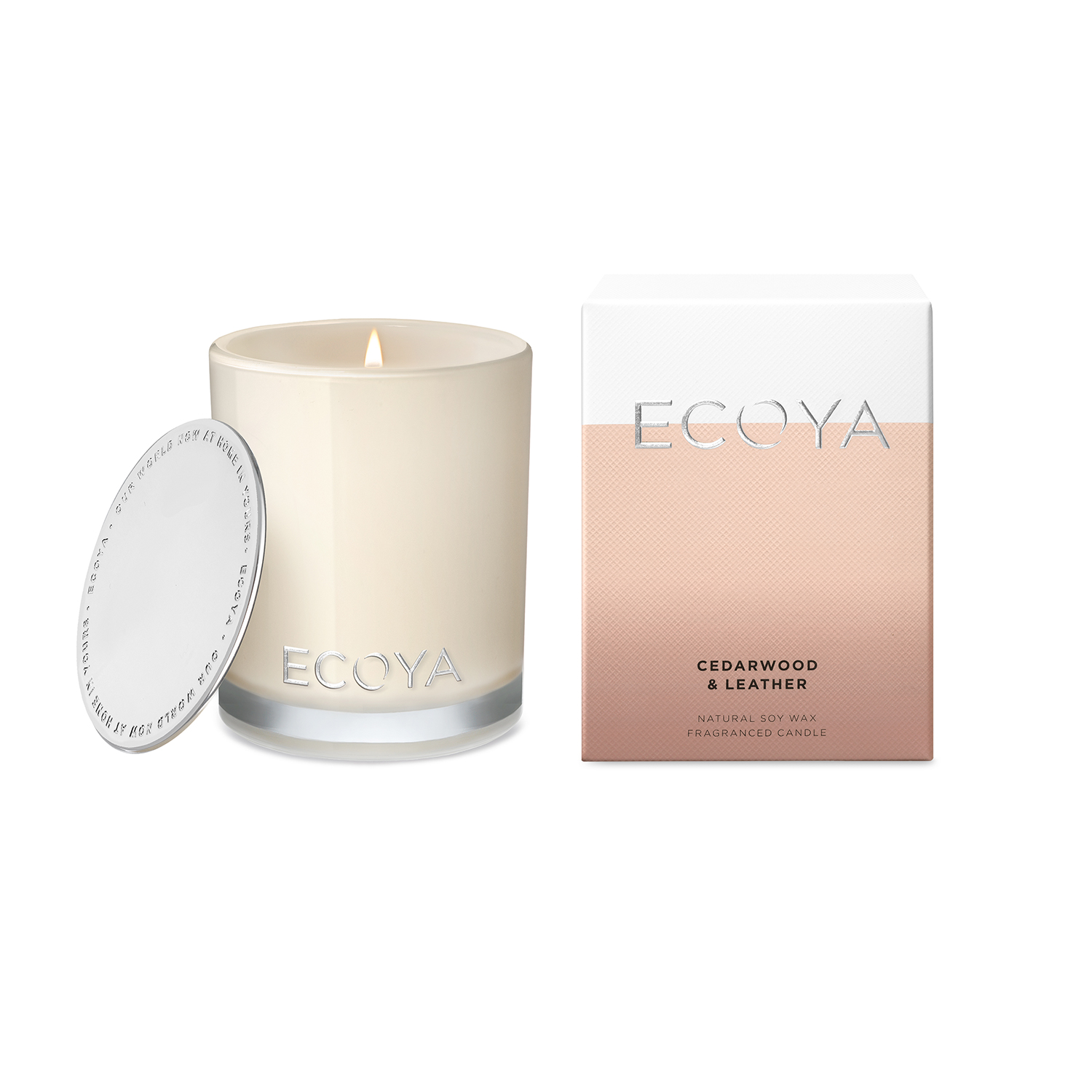 Ecoya Cedarwood and Leather Madison Jar Candle 400g