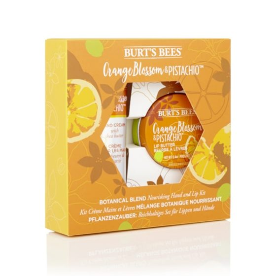 Burt's Bees Lip and Hand Giftset Orange Blossom and Pistachio