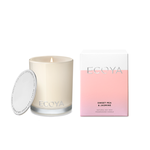 Ecoya Madison Jar Sweet Pea and Jasmine Candle 400g