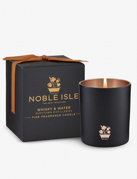 Noble Isle Whisky & Water Candle 200g