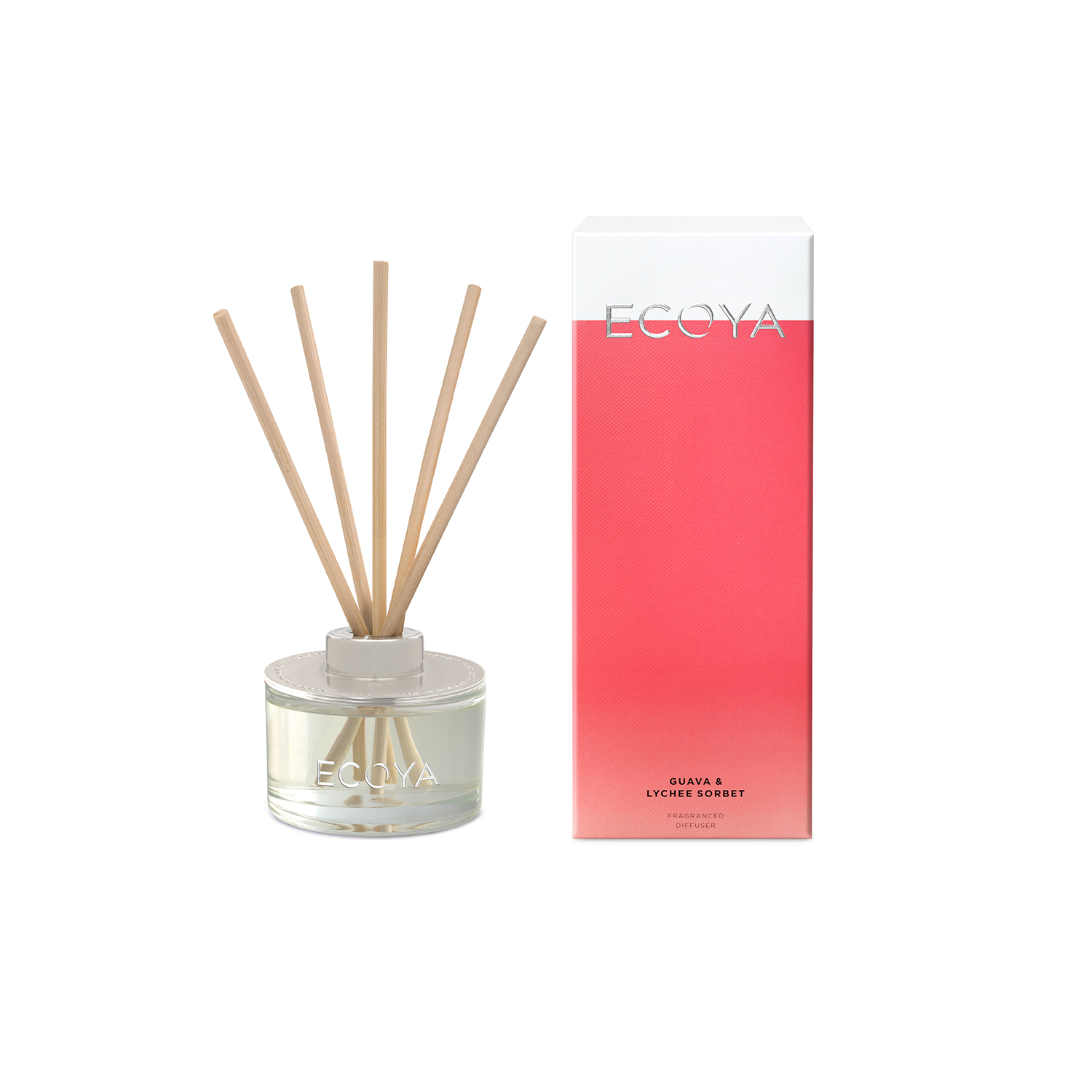 Ecoya Guava and Lychee Mini Reed Diffuser 50ml