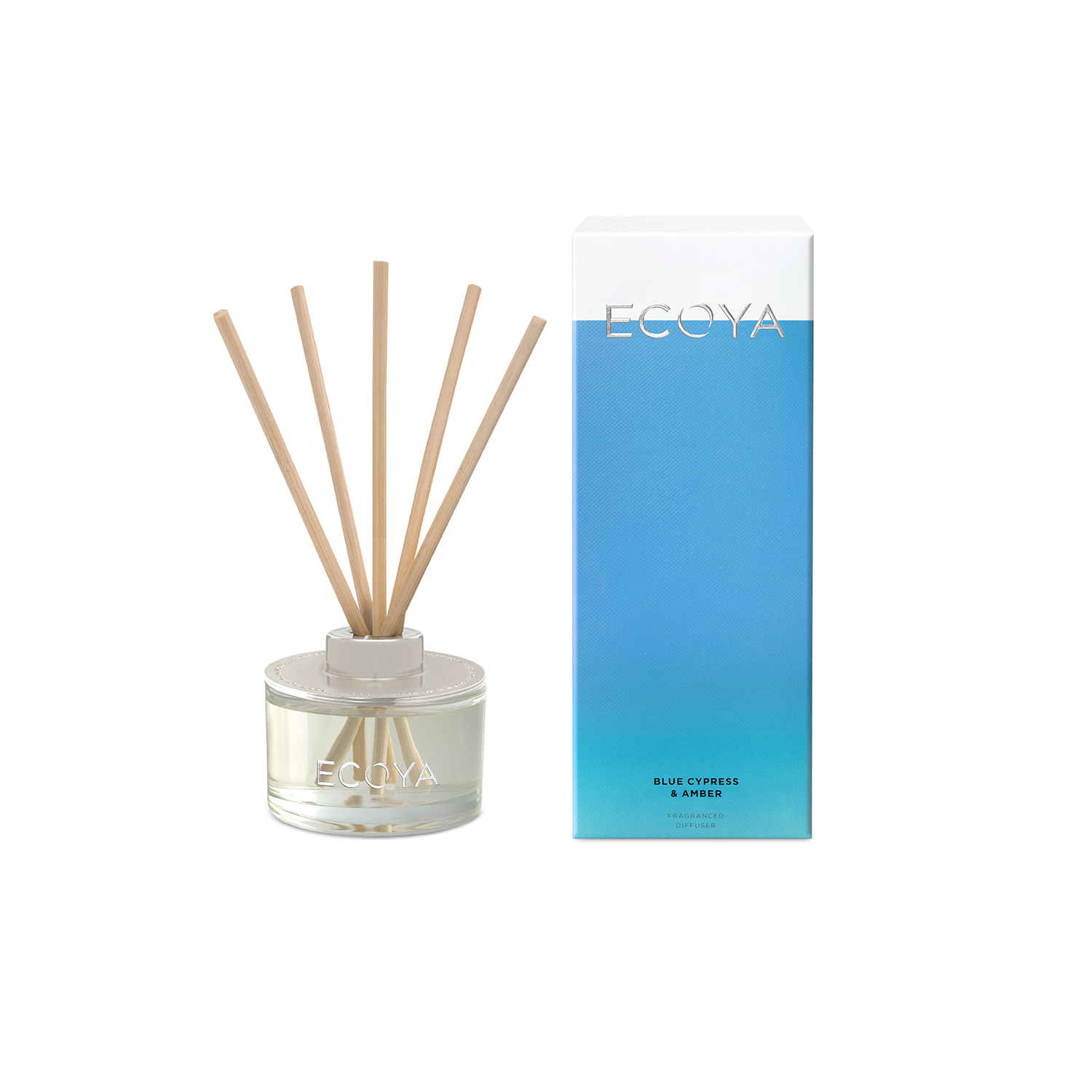 Ecoya Blue Cypress and Amber Mini Reed Diffuser 50ml
