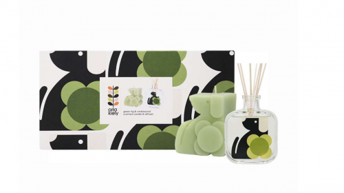 Orla Kiely Moulded Dog Candle & Diffuser Set 200ml