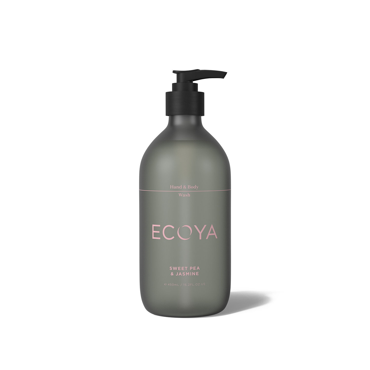 Ecoya Sweet Pea and Jasmine Hand and Body Wash 15.8oz (450ml)