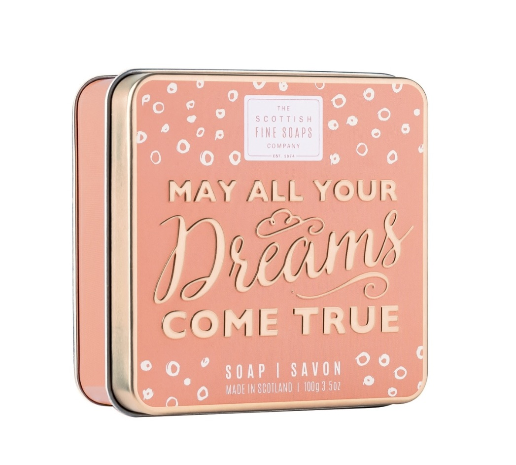 Scottish Fine Soaps 'May All Your Dreams Come True' Soap Tin 100g