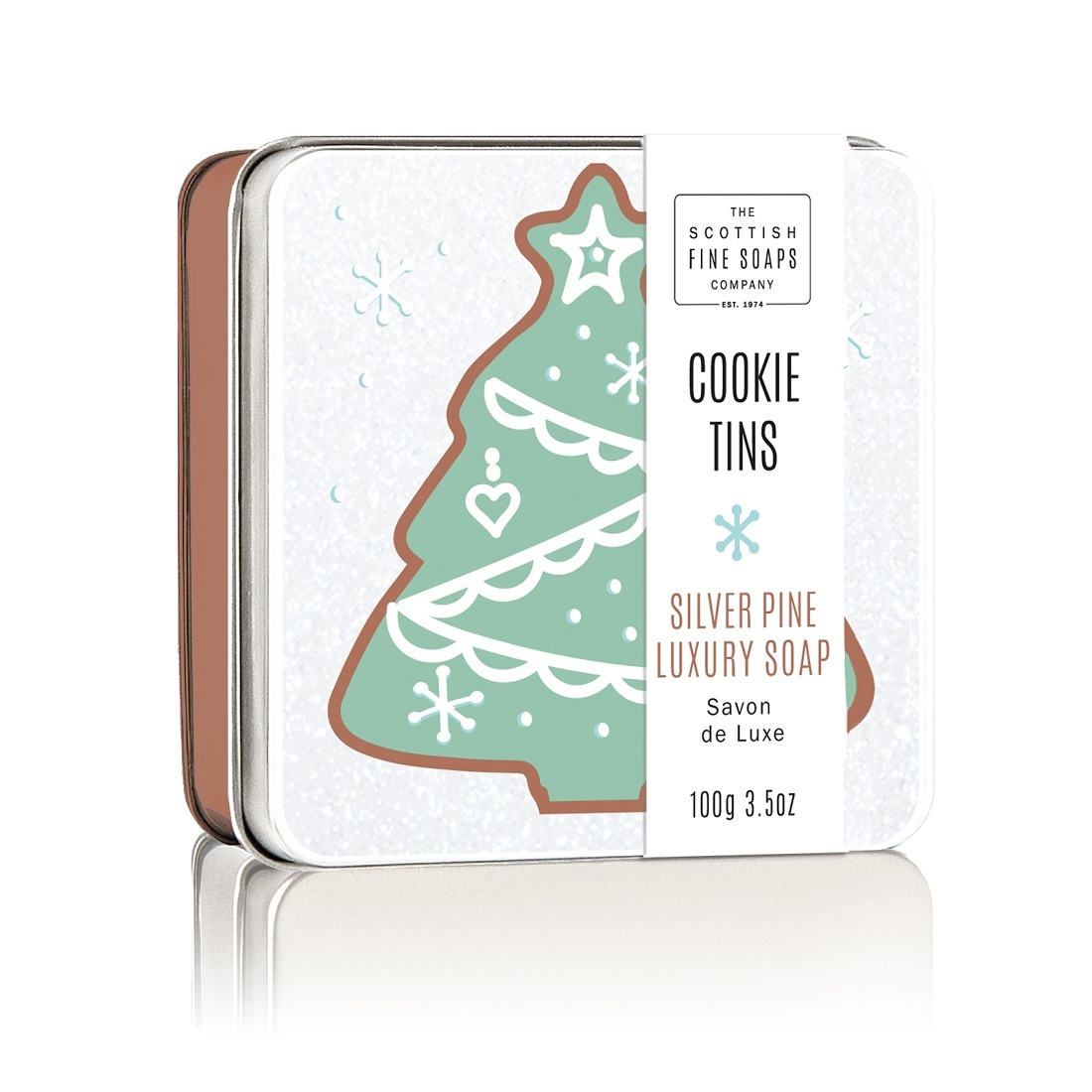 Scottish Fine Soaps Silver Pine Soap Tin 100g