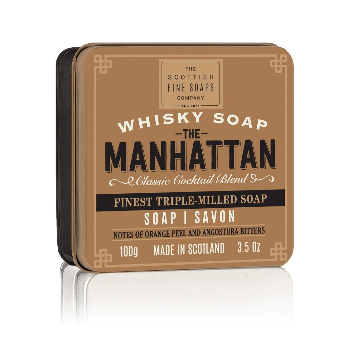 Scottish Fine Soaps The Manhattan Soap Tin 100g
