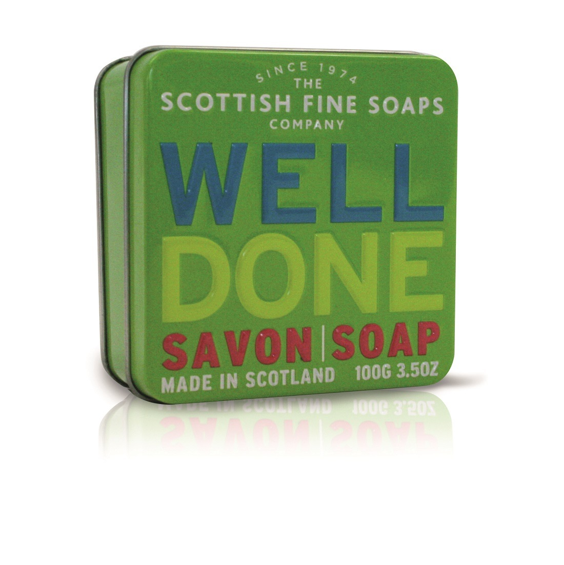 Scottish Fine Soaps 'Well Done' Soap Tin 100g