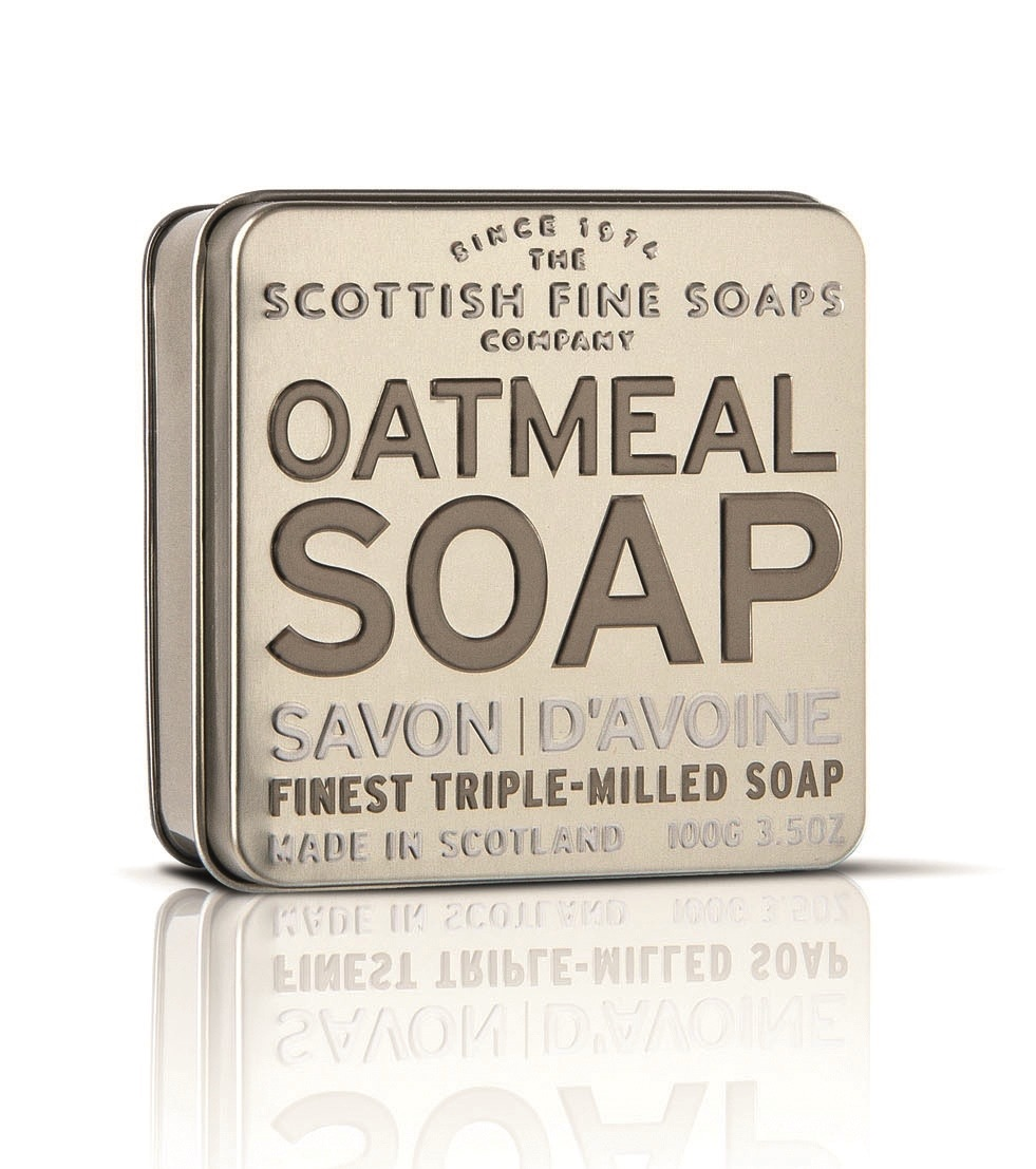 Scottish Fine Soaps Oatmeal Soap Tin 100g