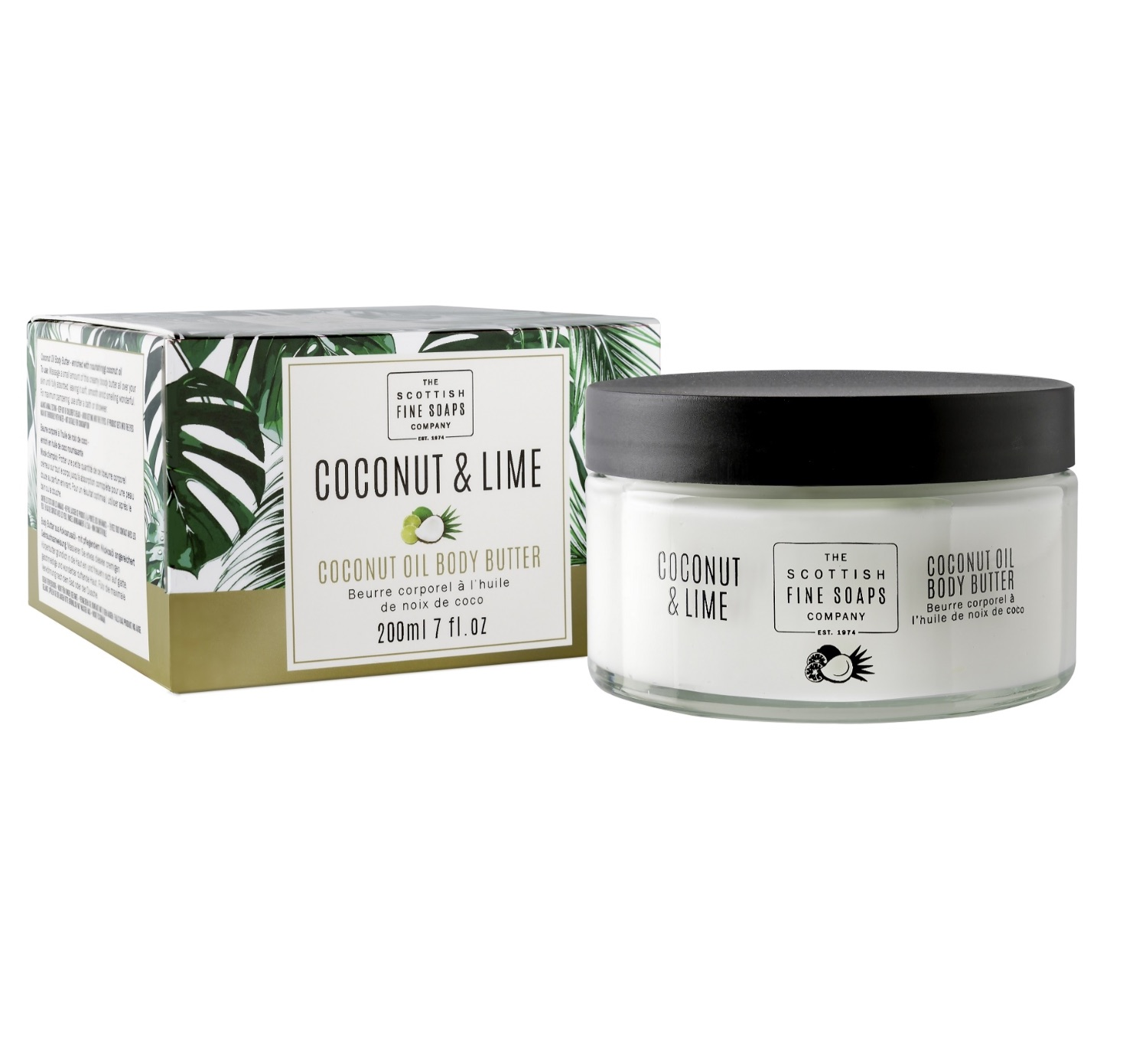 Scottish Fine Soaps Coconut & Lime Coconut Oil Body Butter 200ml