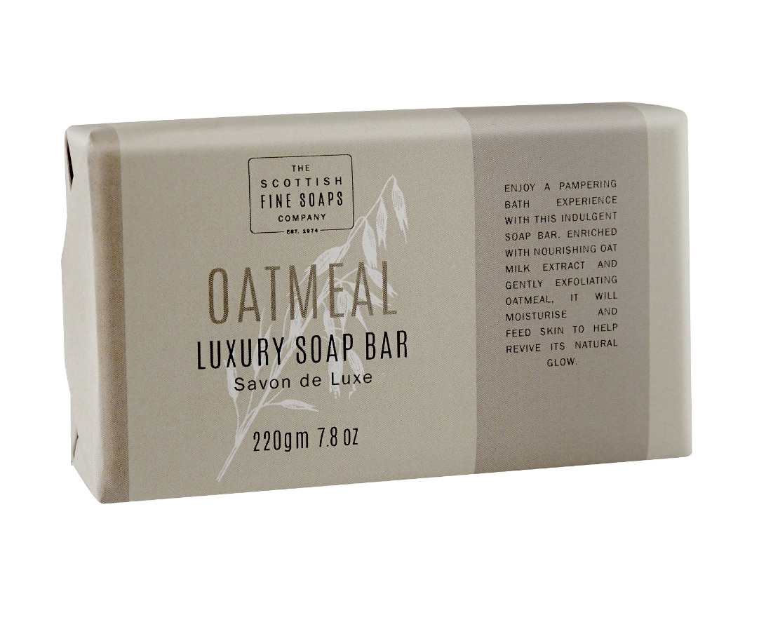 Scottish Fine Soaps Oatmeal Luxury Soap Bar Wrapped 220g