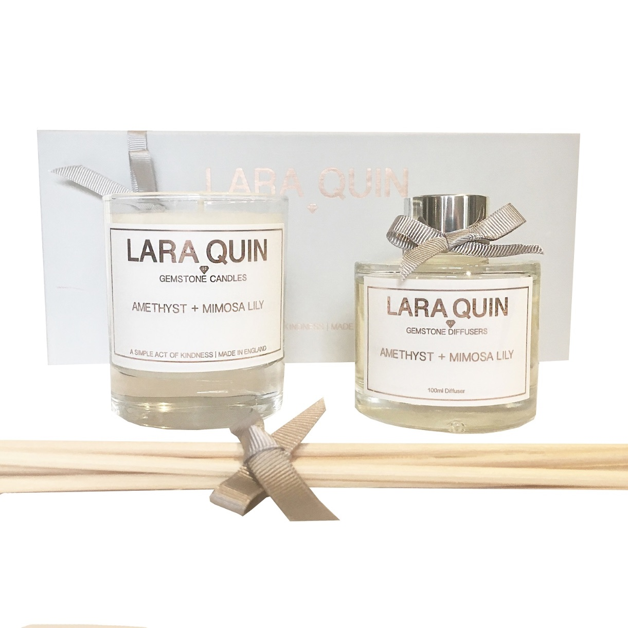 Lara Quin Amethyst & Mimosa Lily Luxe Gift Set