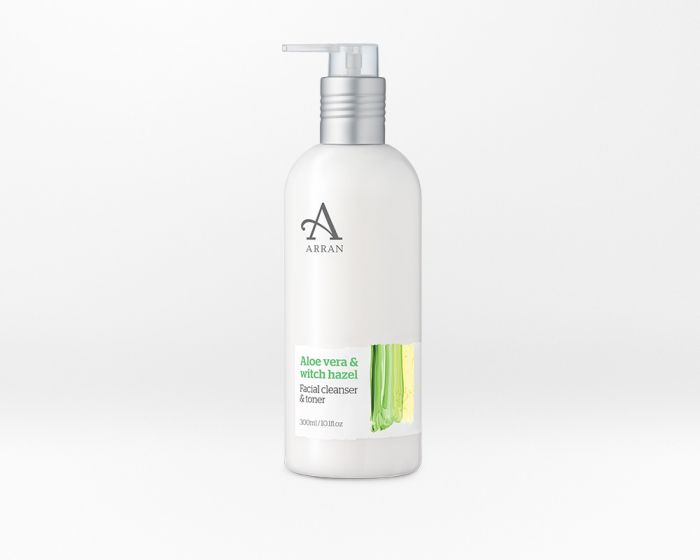 Arran Formulas Aloe Vera Facial Cleanser and Toner 10.5oz (300ml)