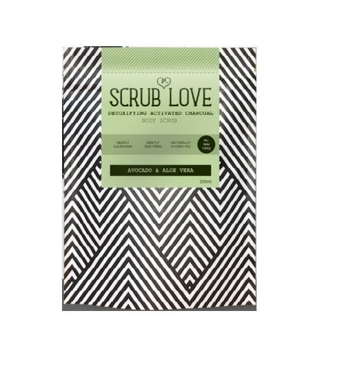 Scrub Love Activated Charcoal Avocado & Aloe Vera Body Scrub