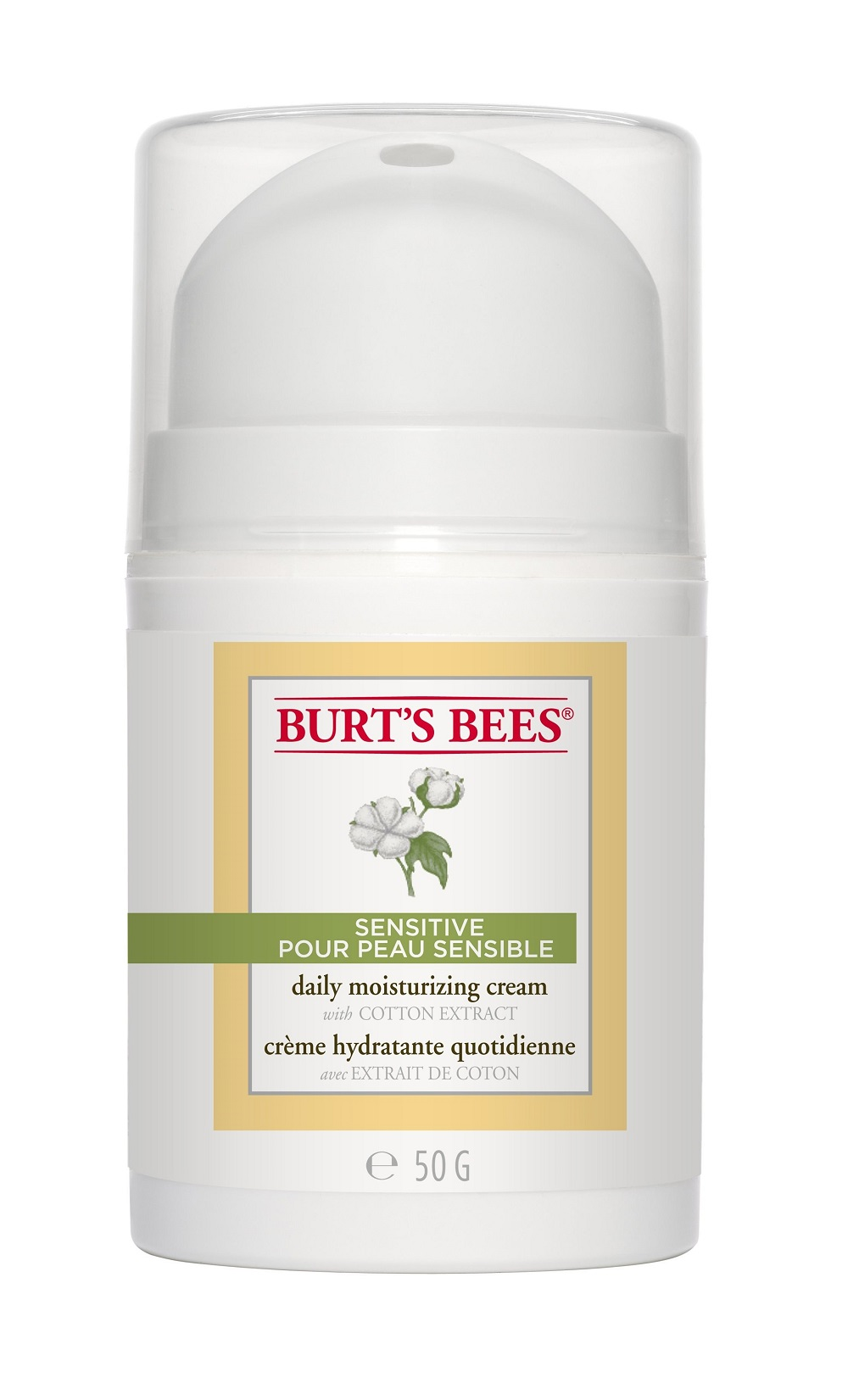 Burt's Bees Sensitive Daily Moisturizing Cream 50g