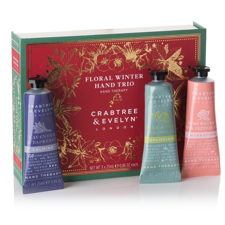 Crabtree & Evelyn Floral Winter Hand Trio Gift Set