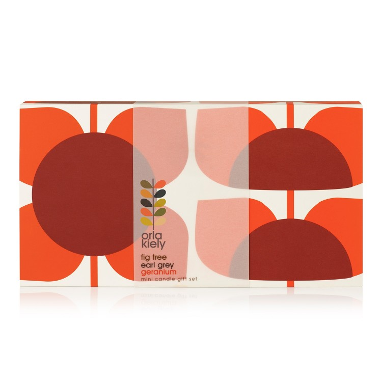 Orla Kiely Square Flower Candle Set