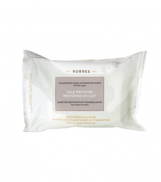 Korres Milk Proteins Cleansing & Make Up Removing Wipes (25)