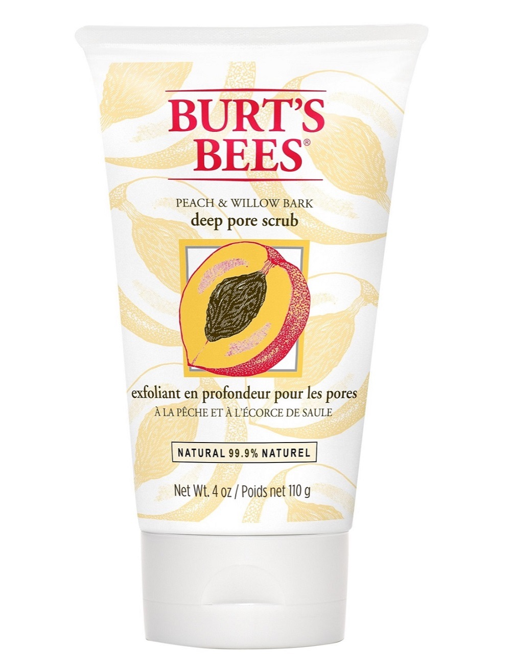 Burt's Bees Peach & Willow Bark Deep Pore Scrub 110g