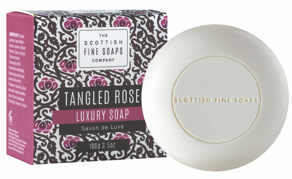 Scottish Fine Soaps Tangled Rose Soap in Carton 100g