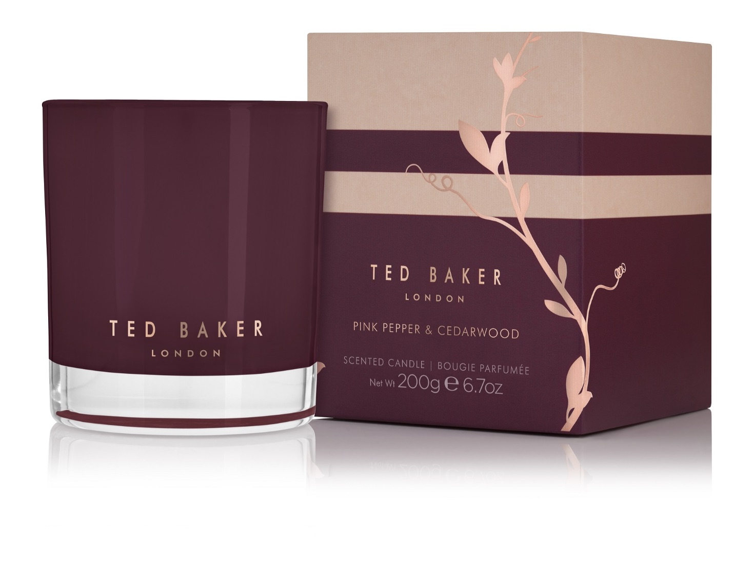 Ted Baker Residence Pink Pepper & Cedarwood Candle 200g