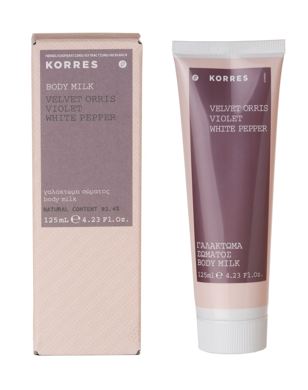 Korres Velvet Orris, Violet & White Pepper Body Milk 125ml
