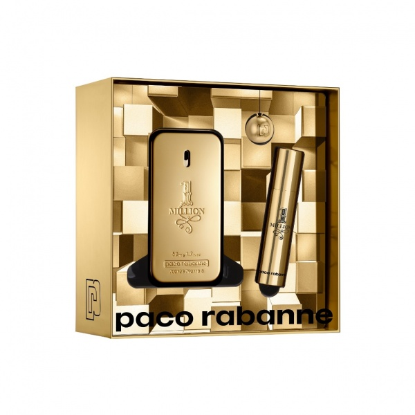 Paco Rabanne 2019 1 Million Eau De Toilette 1.7oz (50ml) Gift Set